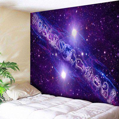 Twelve Constellations Pattern Wall Hanging Tapestry