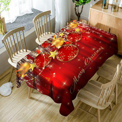 Enfeites de Natal Print Waterproof Table Cloth