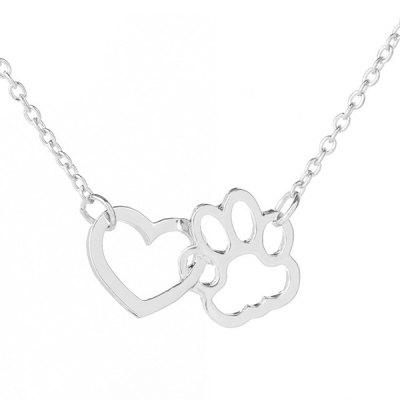 Love Heart Claw Collarbone Pendant Necklace