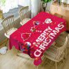 Christmas Hanging Ornaments Print Waterproof Table Cloth - RED