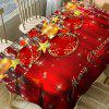 Christmas Ornaments Print Waterproof Table Cloth - RED