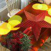 Christmas Tree Star Topper Print Waterproof Table Cloth - COLORMIX