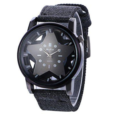 Canvas Strap Pentagram Pattern Quartz Watch