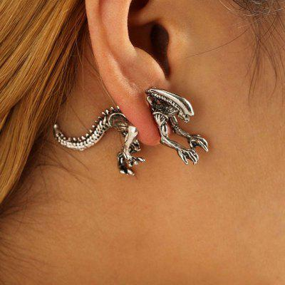 Vintage Dinosaur Skeleton Ear Jackets