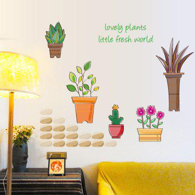 Pepita Planta Wall Art Stickers Para sala de estar