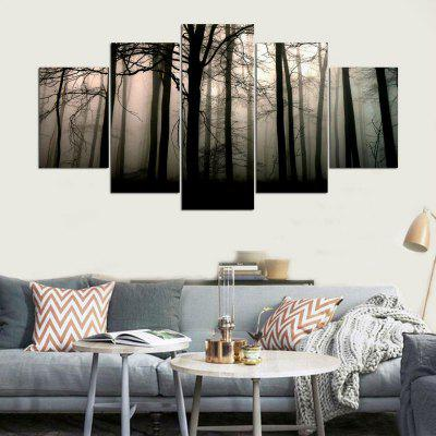 Forest Mist Pattern Unframed Canvas Paintings