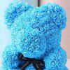 Valentine Day Gift Artificial Roses Bear Wedding Party Decoration - DEEP SKY BLUE