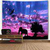 Landscape Wall Hanging Elephant and Tree Print Tapestry - COLORMIX