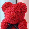 Wedding Party Decoration Valentine's Day Gift Artificial Roses Bear - RED