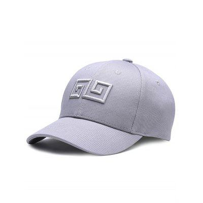 Outdoor Geometric Pattern Embroidery Adjustable Baseball Hat