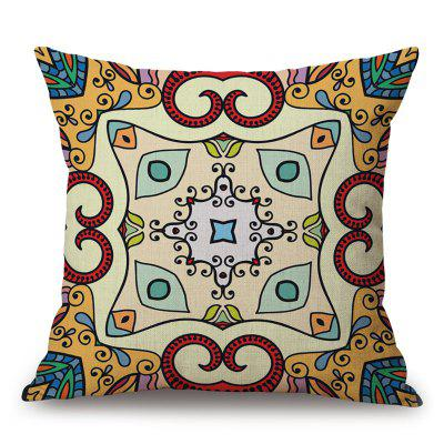 Patterned Sofa Cotton Linen Throw Pillow Case