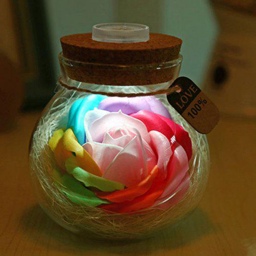 Wish Soap Rose LED Night Light Bottle Valentine's Day Gift
