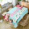 Valentine's Day Roses Hearts Love Patterned Waterproof Table Cloth - CLOUDY
