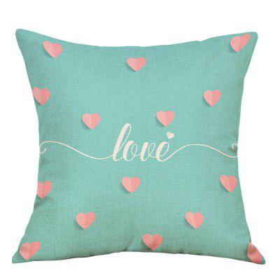 Hearts Love Print Valentine's Day Linen Pillowcase