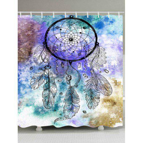 Dreamcatcher Watercolor Painting Printed Waterproof Shower Curtain