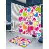 Valentine' Day Heart Of Love Pattern Shower Curtain - COLORFUL