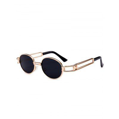 Punk Style Metal Full Frame Embellished Oval Sunglasses