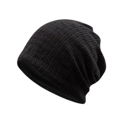 Outdoor Striped Pattern Crochet Knitted Slouchy Beanie