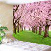 Flower Forest Print Wall Hanging Tapestry - PINK