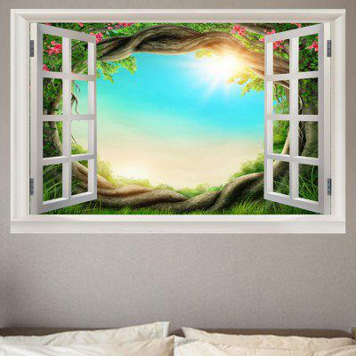 Bright Sky Pattern Window View Removable Wall Sticker