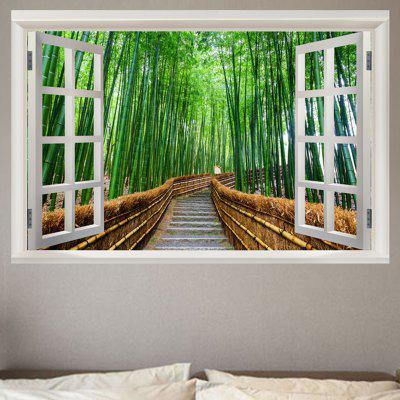 Bamboo Forest Trail Window View Removable Wall Sticker