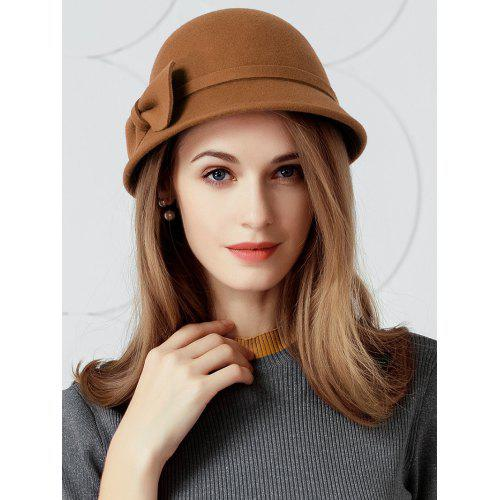 Simple Bowknot Embellished Faux Wool Fedora Hat -  24.20 Free ... 575c31ead64