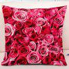 Valentine's Day Roses Pattern Square Throw Pillow Case - PINK