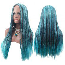 Long Center Parting Colormix Crochet Braids Cosplay Synthetic Wig