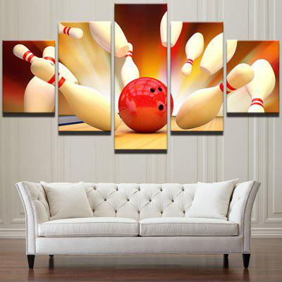 Bowling Game Pattern Unframed Wall Art Canvas Paintings
