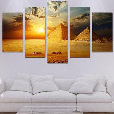 Sunset Pyramids Printed Wall Art Unframed Canvas Paintings