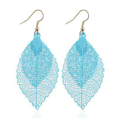 Hollow Out Leaf Drop Earrings