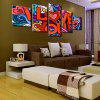 Valentine's Day I Love You Printed Split Unframed Canvas Paintings - COLORFUL