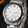 Alloy Strap Tachymeter Date Watch - WHITE
