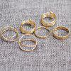 Simple Circle Cuff Finger Ring Set - GOLDEN