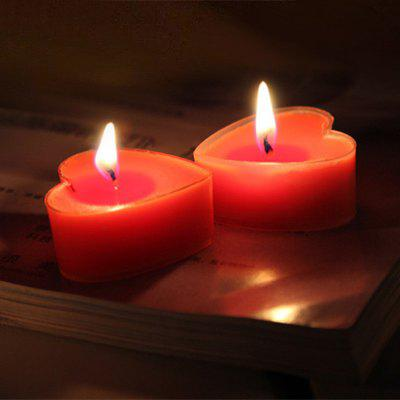 Heart Shaped Romantic Love Tea lights Candle Bulk 9pcs