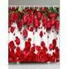 Valentine's Day Home Decor Red Rose Waterproof Shower Curtain - ROSE MADDER