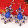 Hollow Out Drop Earrings - ROYAL