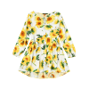 Mini robe de tournesol haute basse - JAUNE