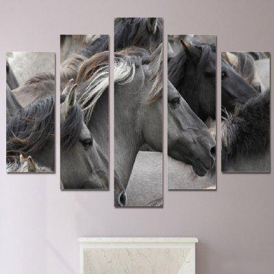 Gorgeous Horses Printed Canvas Split Wall Art Paintings