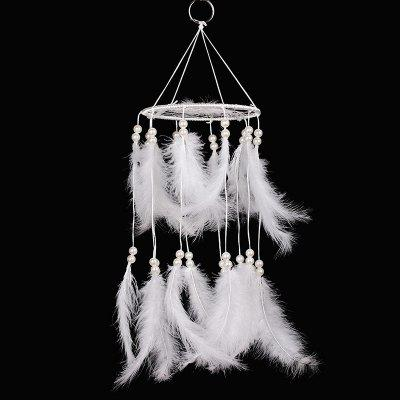 Faux Pearl Feather Pastel Chandelier Mobile Dreamcatcher