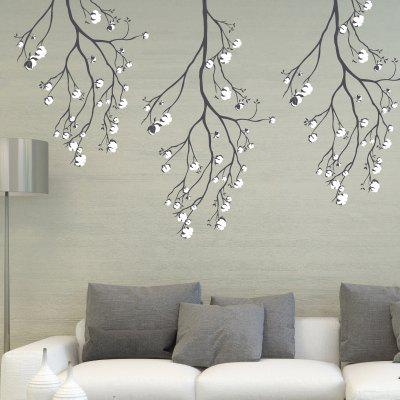 Tree Flower Print DIY Removable Wall Sticker