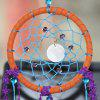 Faux Crystal Shell Feather Handmade Dreamcatcher Decoration - PURPLE