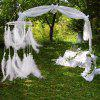 Faux Pearl Feather Pastel Chandelier Mobile Dreamcatcher - WHITE