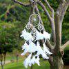 Handmade Feathers Dream Catcher Wall Hanging Decor - WHITE