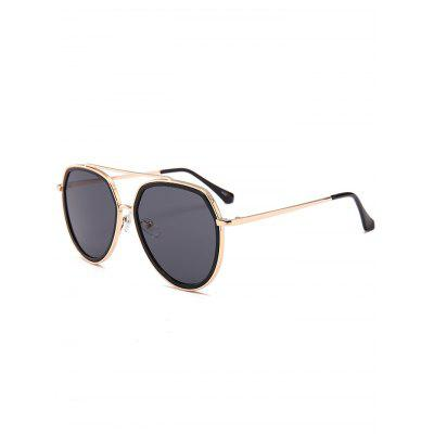 Anti-fatigue Metal Bar Embellished Pilot Sunglasses