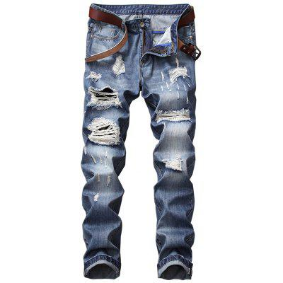 Regular Fit Ripped Jeans