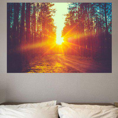Sunset Tree Pattern Removable Environmental Wall Sticker