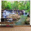 Forest Stream Wall Hanging Landscape Tapestry - GREEN