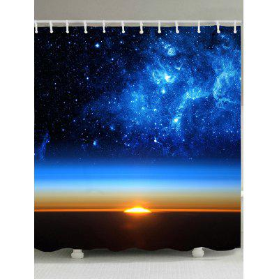 Starry Sky Print Waterproof Polyester Bath Curtain