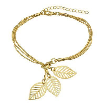 Multilayered Alloy Leaf Bracelet